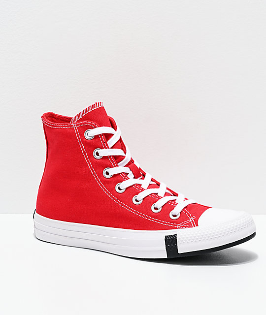 Converse Chuck Taylor All Star Hi Multi Logo Red Shoes