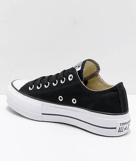 ... Converse Chuck Taylor All Star Lift Black   White Shoes ... 64d0837dd