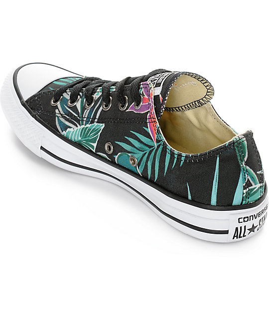 949ad690d3c ... Converse Chuck Taylor All Star Ox Black Floral Print Shoes ...