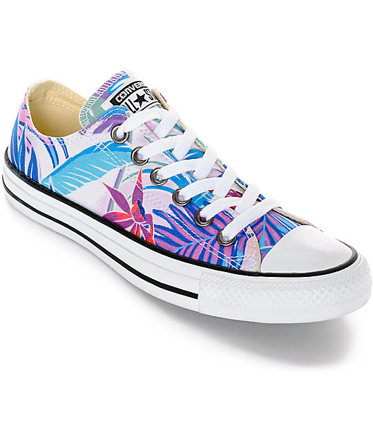 de5be0d5f63503 Converse Chuck Taylor All Star Ox Fresh Floral Print Shoes