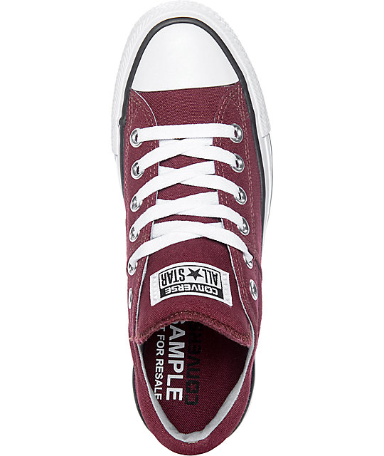 Converse Chuck Taylor All Star Ox Madison Burgundy & White Shoes