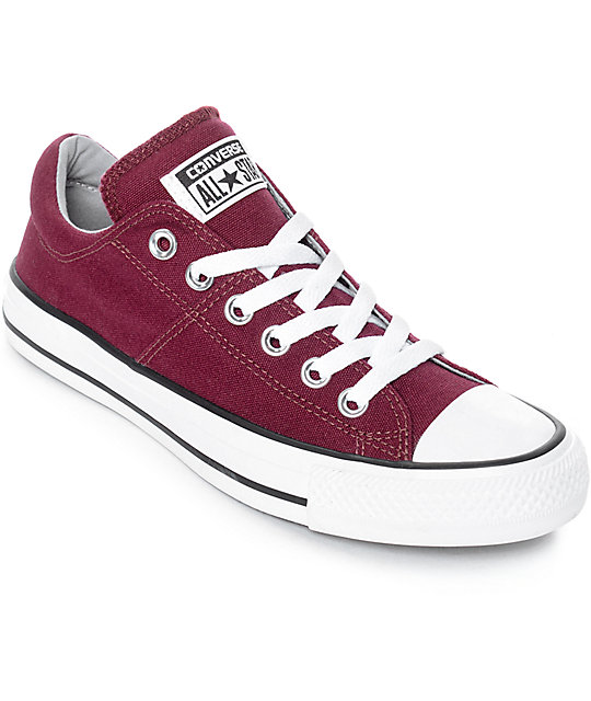 Converse Chuck Taylor All Star Ox Madison Burgundy   White Shoes ... 67bac325c2e