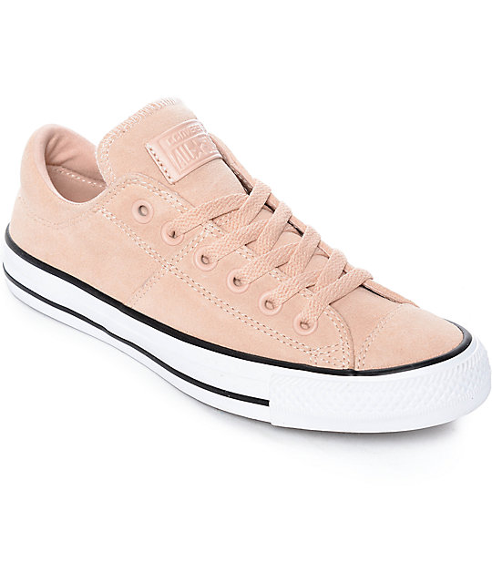Converse Chuck Taylor All Star Ox Madison Dust Pink Suede Shoes ... 058b7fc1d5b