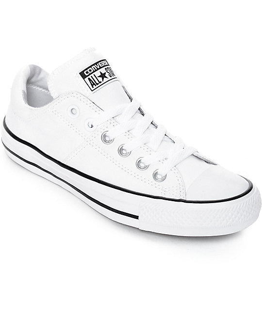 8aae663d3f4 Converse Chuck Taylor All Star Ox Madison White & White Shoes