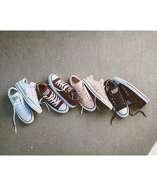 Converse Chuck Taylor All Star Ox Madison zapatos en blanco y color vino