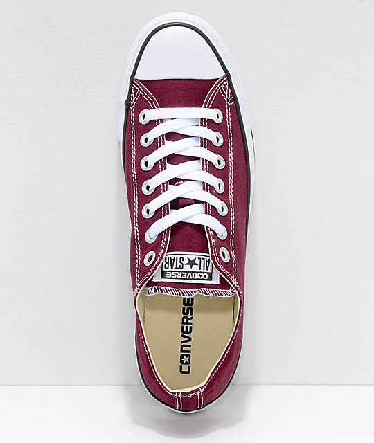 Converse Chuck Taylor All Star Ox Maroon & White Shoes