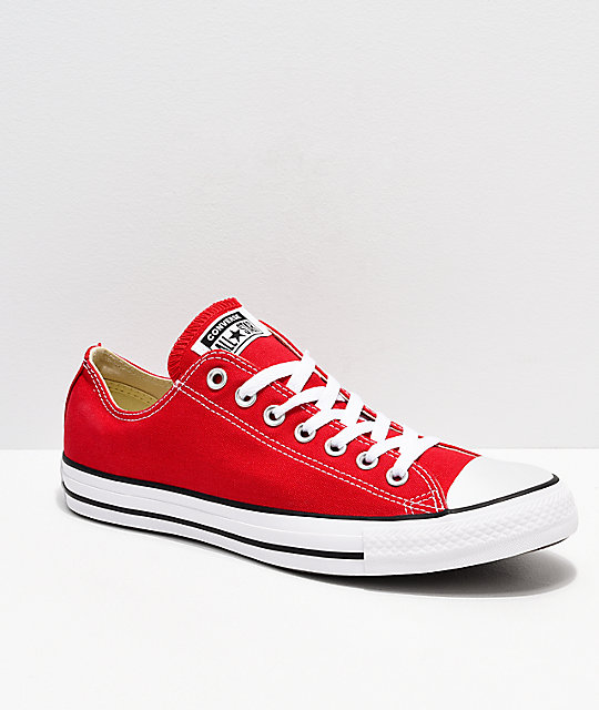 2bfd187e93b7 Converse Chuck Taylor All Star Red   White Shoes