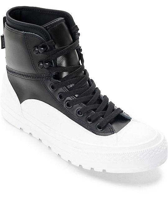 66bd73caea Converse Chuck Taylor All Star Tekoa Black & White Boots | Zumiez