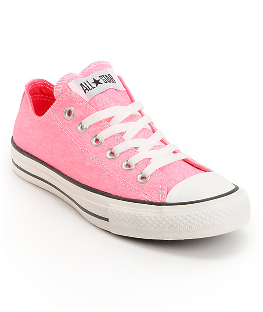 1f1335cd92e9 Converse Chuck Taylor All Star Washed Neon Pink Shoes