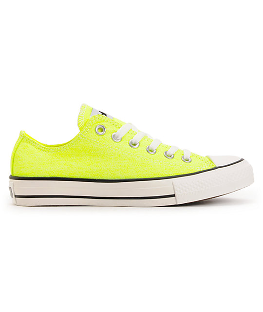 Converse Chuck Taylor All Star Washed Neon Yellow Shoes