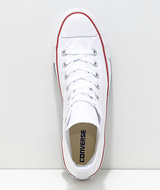... Converse Chuck Taylor All Star White High Top Shoes ... d889e4436