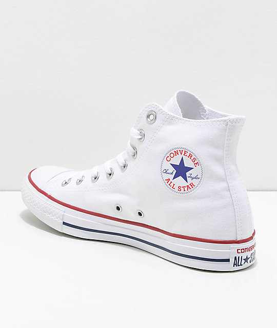 c55a6e0cfdc Converse Chuck Taylor All Star White High Top Shoes | Zumiez