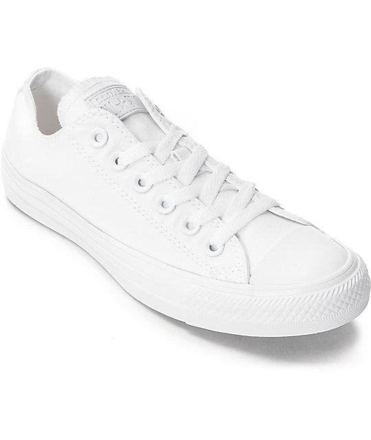 Zapatos blancos casual Converse Chuck Taylor para mujer Zapatos verdes para hombre E4HzgX