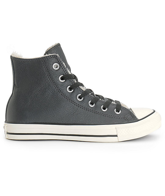 02234c18 ... clearance converse chuck taylor all star zapatos de cuero negro mujer  b98ac 4fb8b