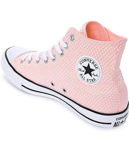 fbe327fa62c7 ... Converse Chuck Taylor All Star zapatos en blanco y rosa ...