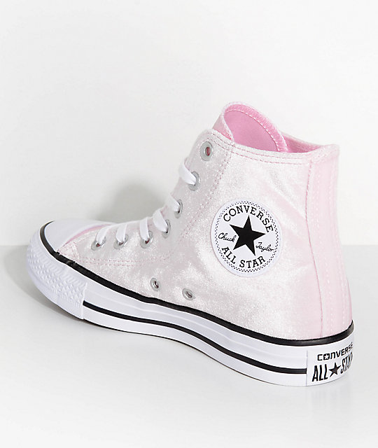 25e741afdbf ... Converse Chuck Taylor Hi Arctic Pink Velvet Shoes ...