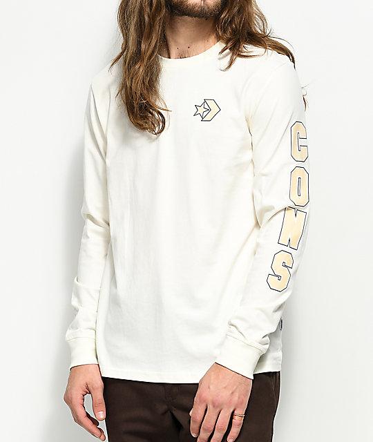 Converse Cons Wordmark Egret White Long Sleeve T Shirt