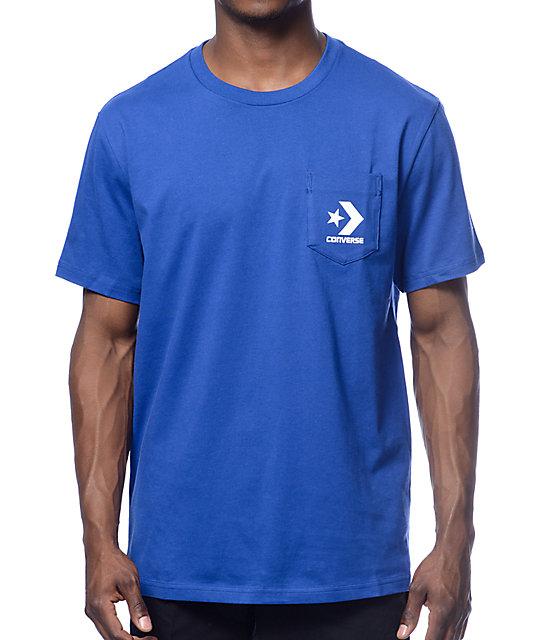 blue converse shirt