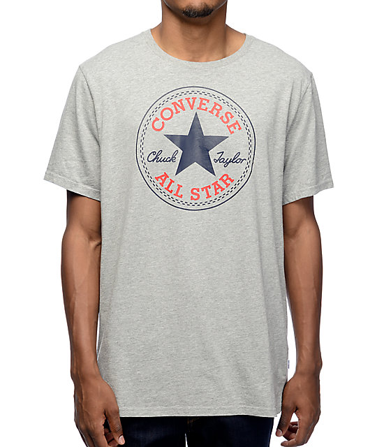 Converse Core Heather Grey T-Shirt | Zumiez