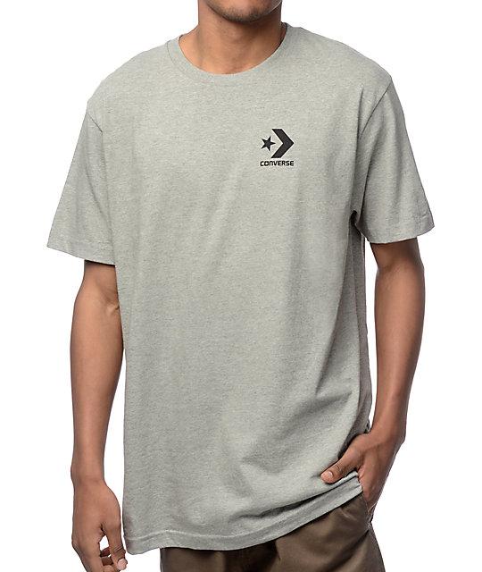 Converse Core Star Chevron Heather Grey T Shirt