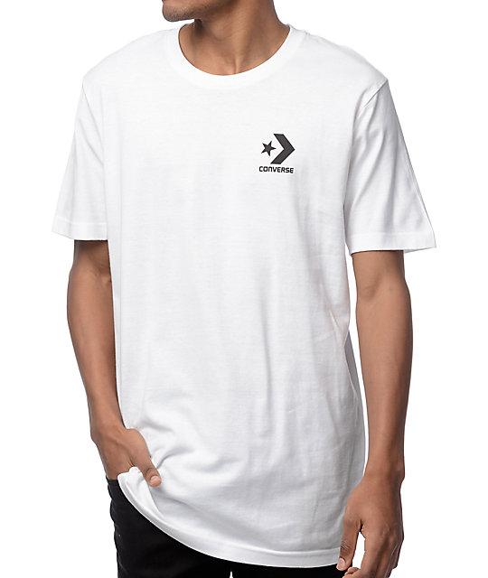 Converse Core Star Chevron White T Shirt