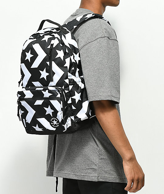 a67f845558d5 ... Converse Go Black   White Backpack ...