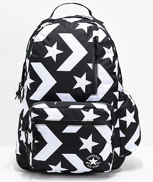 Converse Go Black   White Backpack  8b6d0117e6c9b