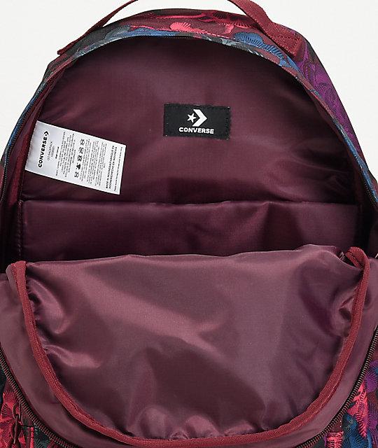 95a3eea892bb ... Converse Go Floral Burgundy Backpack