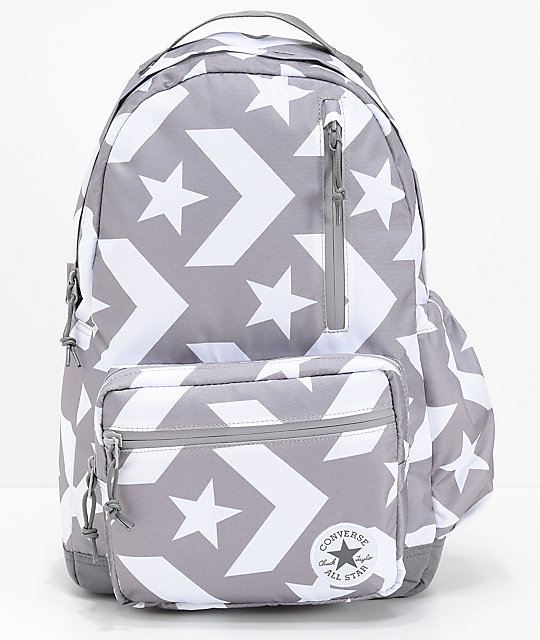Converse Go Grey   White Backpack  8eaa324cbeb9e