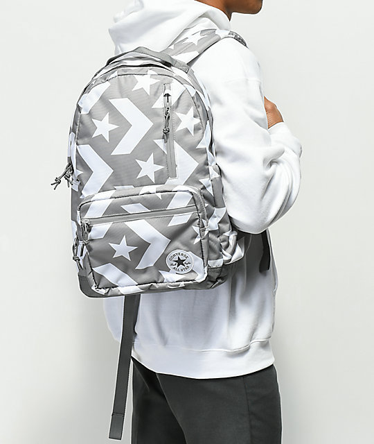 Converse Go Grey & White Backpack