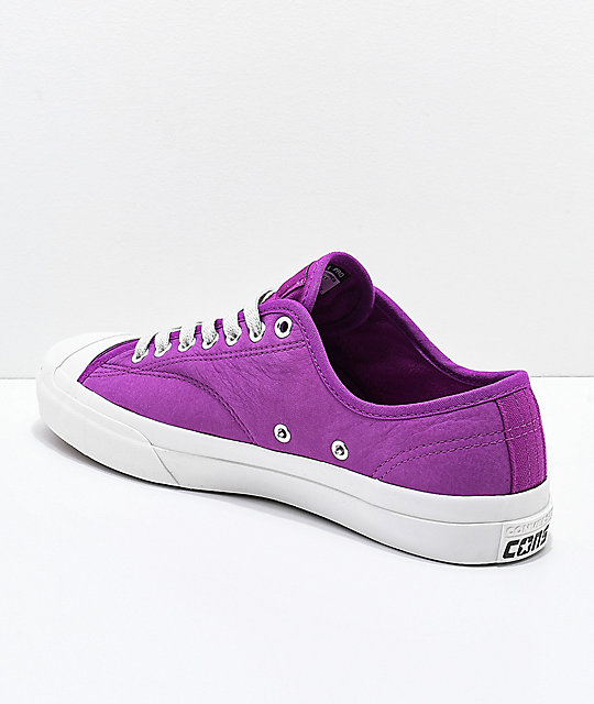 Converse Jack Purcell Pro Icon Violet & Grey Skate Shoes