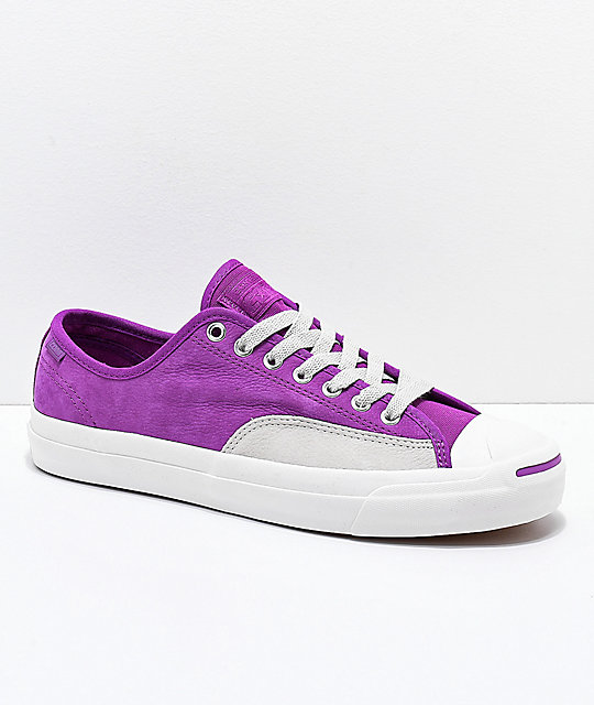 548dc5780443 Converse Jack Purcell Pro Icon Violet   Grey Skate Shoes