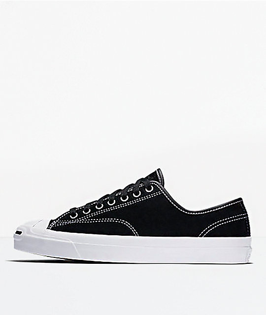 891dd04f682a3e Converse Jack Purcell Pro Ox Black   White Skate Shoes