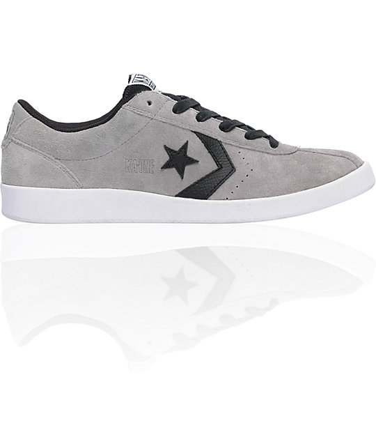 Converse KA-One Paeton Grey Suede & Black Shoes