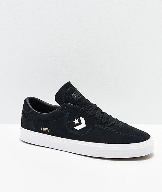 fa772aa8fde6d2 Converse Louie Lopez Pro Black   White Skate Shoes