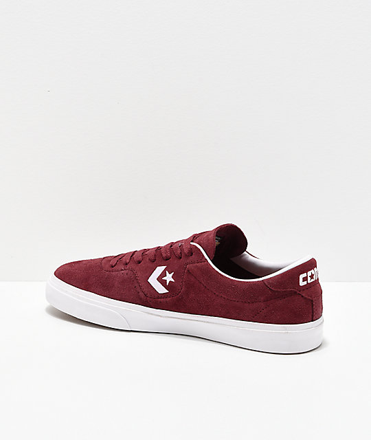 Converse Louie Lopez Pro Dark Burgundy & White Skate Shoes