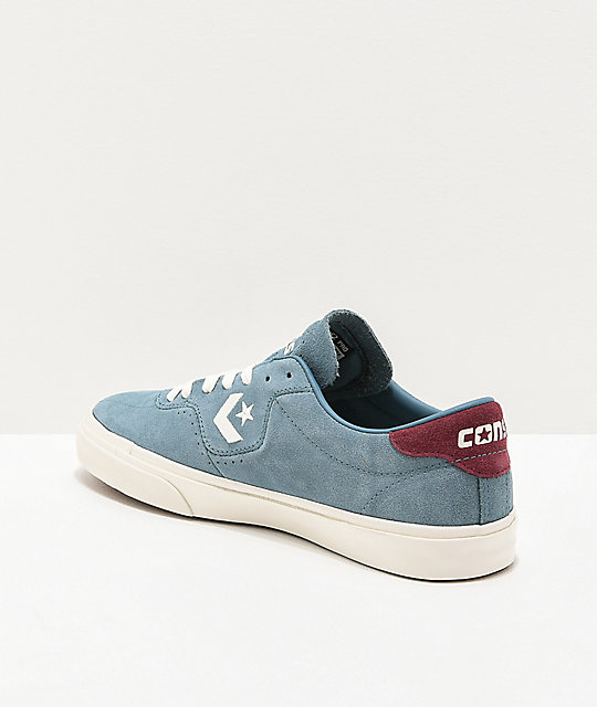 Converse Louie Lopez Pro Teal, White & Burgundy Skate Shoes