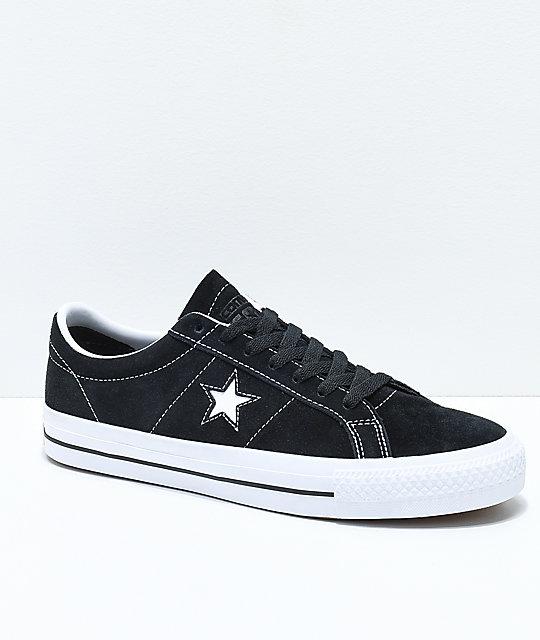Black Suede One Star Skate Sneakers Converse