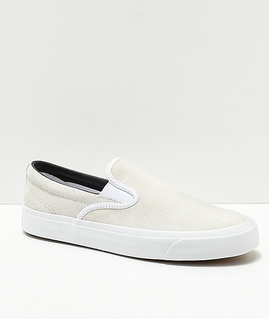 Converse One Star CC Slip On White Skate Shoes