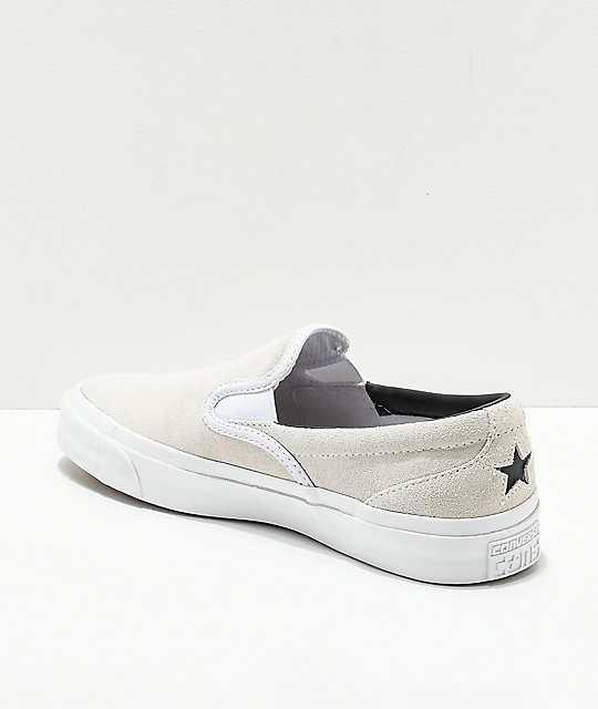 Converse One Star CC Slip-On zapatos de skate en blanco