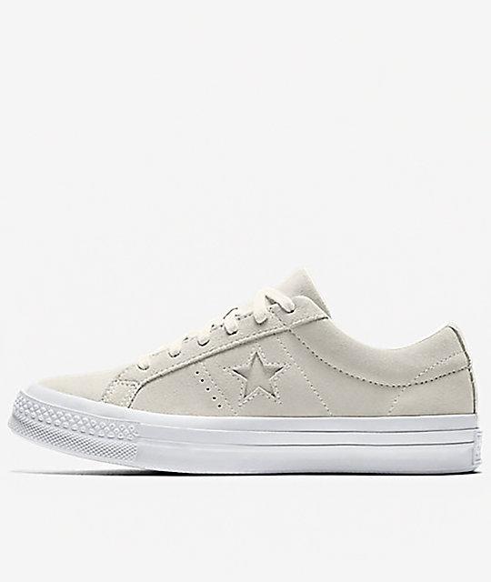 various colors 97aa9 ea23b Converse One Star CC Suede Egret   White Shoes   Zumiez.ca