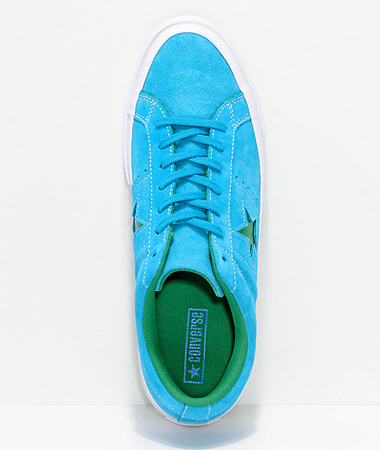ONE STAR - OX PINESTRIPE - Sneaker low - hawaiian ocean/jolly green/white