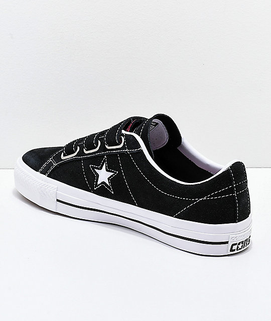 6e408eeb443 ... Converse One Star Pro 3V Black   White Skate Shoes ...