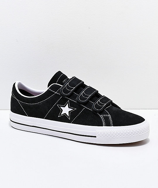 657d0ee22dff Converse One Star Pro 3V Black   White Skate Shoes