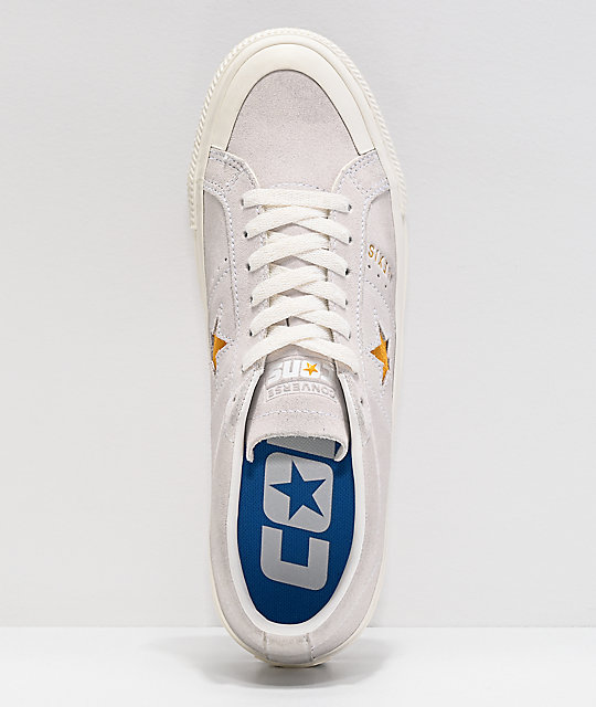 Converse One Star Pro Alexis Sablone Bone & University Gold Skate Shoes