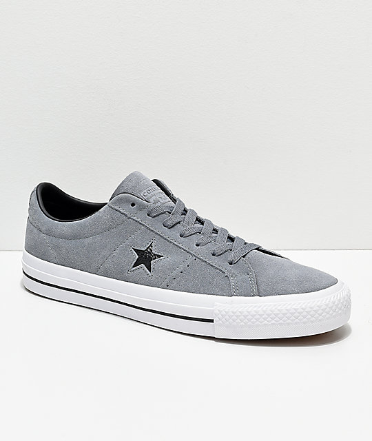 Converse One Star Pro Cool Grey & White Skate Shoes