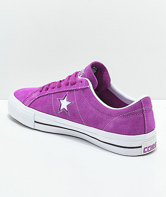 Converse One Star Pro Icon Violet & White Skate Shoes