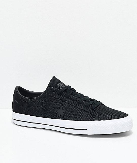 8c1e67e5277c Converse One Star Pro Mike Anderson Black   White Skate Shoes