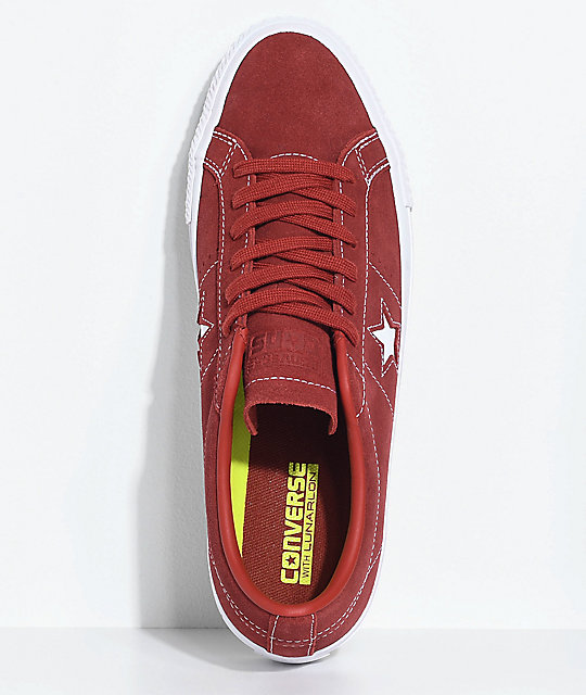 71be2814b3e1 ... Converse One Star Pro Terra Red   White Skate Shoes ...