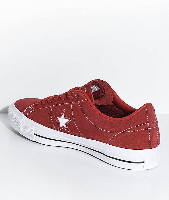 163eb1f08da4 ... Converse One Star Pro Terra Red   White Skate Shoes ...